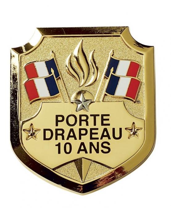 Insigne Porte-Drapeau 10 ans étoile argent