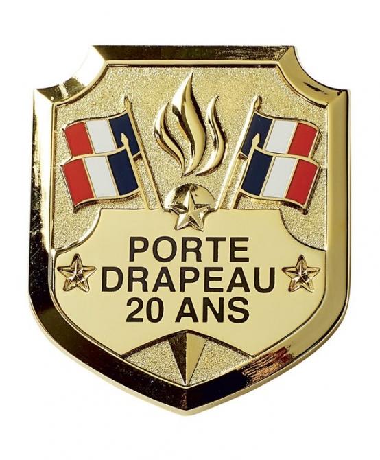 Insigne Porte-Drapeau 20 ans étoile dorée