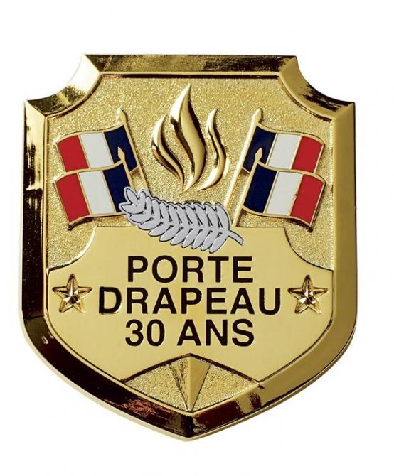 Insigne Porte-Drapeau 30 ans palme