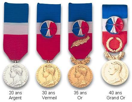 Médaille d'Honneur du travail 30 ans Vermeil