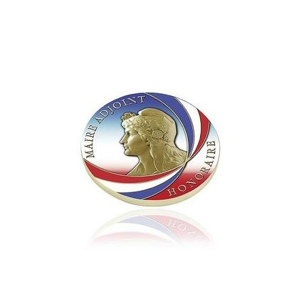 MEDAILLE MAIRE HONORAIRE TRICOLORE