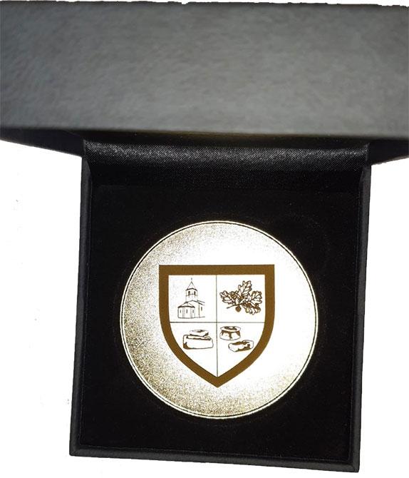 Médaille personnalisable dans écrin